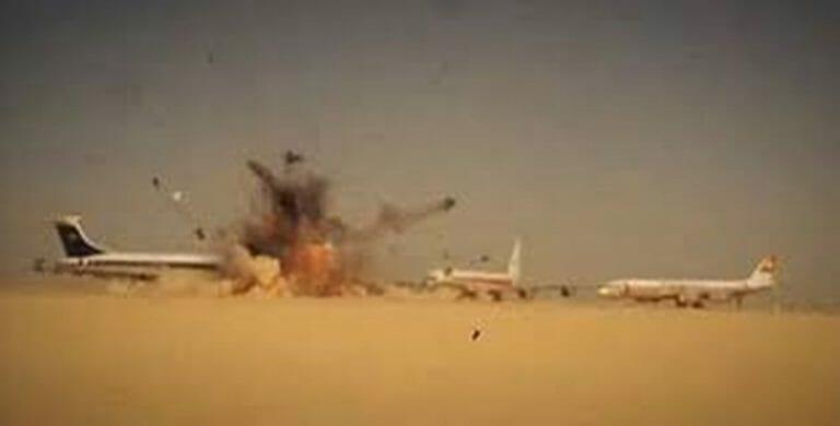 Palästinensische Terroristen sprengen entführte westliche Flugzeuge, Dawson's Field, Jordanien, September 1970