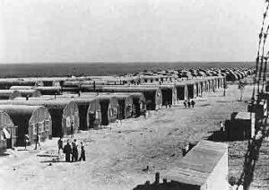 Lager für jüdische Flüchtlinge auf Zypern, die von den Briten nicht nach Palästina gelassen wurden.
