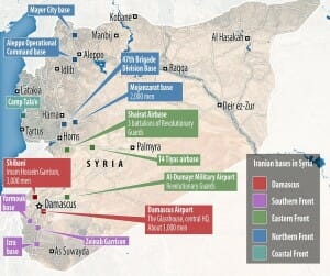 Iranian Bases in Syria