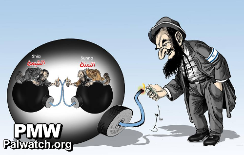 Jew divides Muslim world, Fatah cartoon