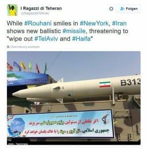 Iranische Drohungen nicht länger ignorieren