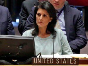 Nikki Haley: Wo ist die Hilfe der arabischen Staaten für die Palästinenser?