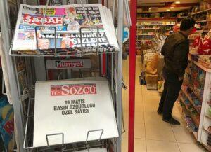 Türkische Zeitung erscheint mit leeren Seiten