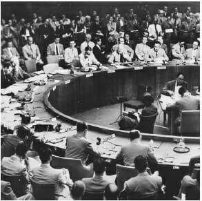 Der UN-Sicherheitsrat verabschiedet Resolution 242