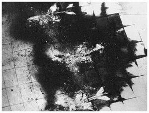 Zerstörte Flugzeuge der ägyptischen Luftwaffe