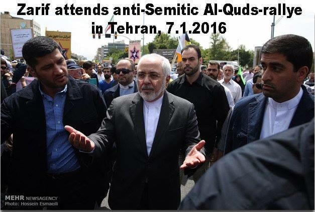 Iranischer Judenhass, auf offener Strasse demonstriert in Berlin
