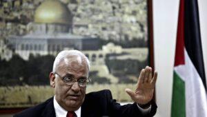 Der Generalsekretät der PLO Saeb Erekat