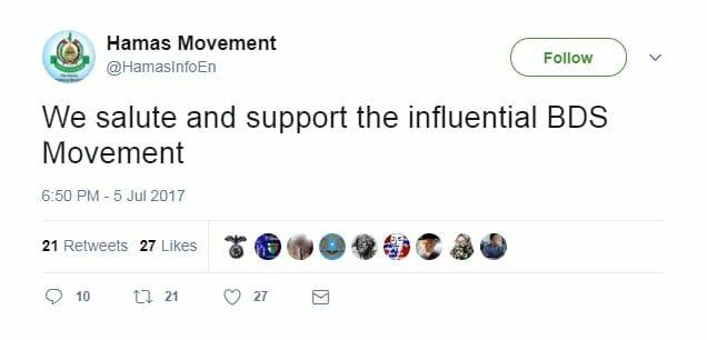 Hamas unterstützt die Israelboykott-Bewegung BDS