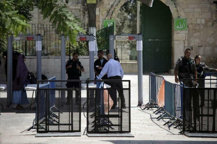 """Mit dem """"Gott des Dialogs"""" gegen israelische Metalldetektoren"""