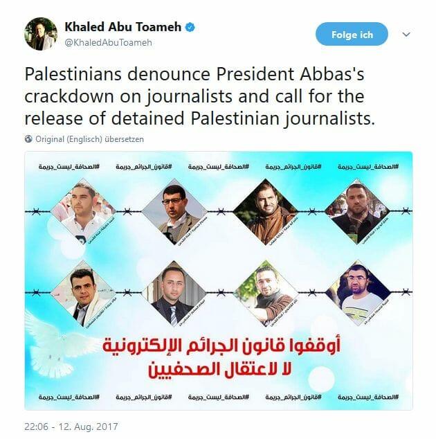 """""""Das schlimmste Gesetz der Palästinensischen Autonomiebehörde"""""""