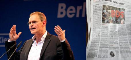 Berlins Bürgermeister erzürnt die TAZ