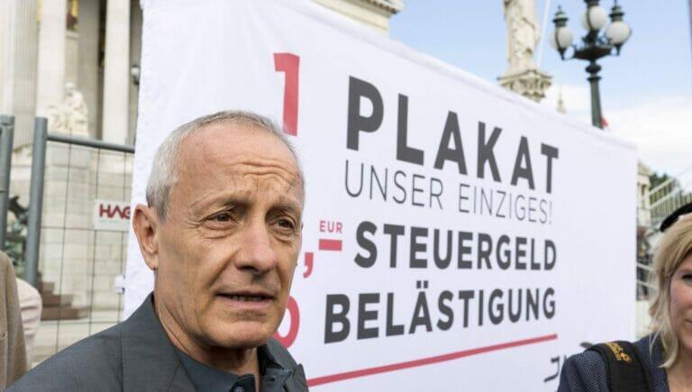 Peter Pilz beim Start des Wahlkampfs seiner Liste Peter Pilz