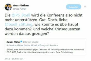 Kritik an Böll-Stiftung wegen Unterstützung von Intifada-Konferenz
