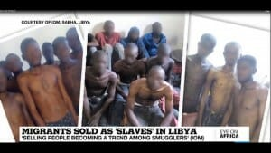 Afrikanische Flüchtlingen werden in Libyen als Sklaven verkauft