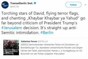 Redner auf Berliner Anti-Israel-Demonstration rief zu Salafisten-Geste auf