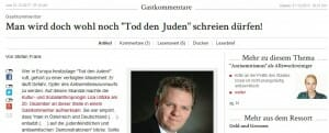 """Man wird doch wohl noch """"Tod den Juden"""" schreien dürfen! – Update"""