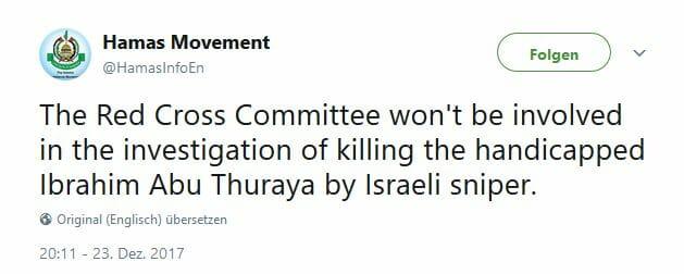 Wer erschoss den beinamputierten Palästinenser Ibrahim Abu Thurayeh?