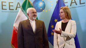 Proteste gegen EU-Iran-Treffen in Brüssel
