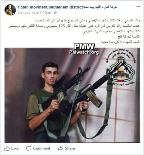 """Fatah-Bewegung von Abbas feiert Ermordung von """"126 Zionisten"""""""