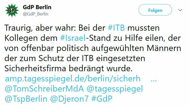Wachmänner auf Tourismusmesse: Antisemitismus statt Schutz