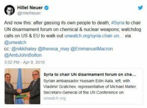 Syrien übernimmt Vorsitz des UN-Abrüstungsausschusses