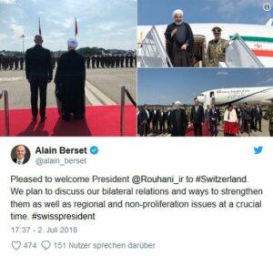 Schweiz: Rohani bekräftigt die iranische Nichtanerkennung Israels