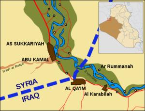 Konflikte zwischen Syrien und pro-iranischen Milizen um Landkorridor
