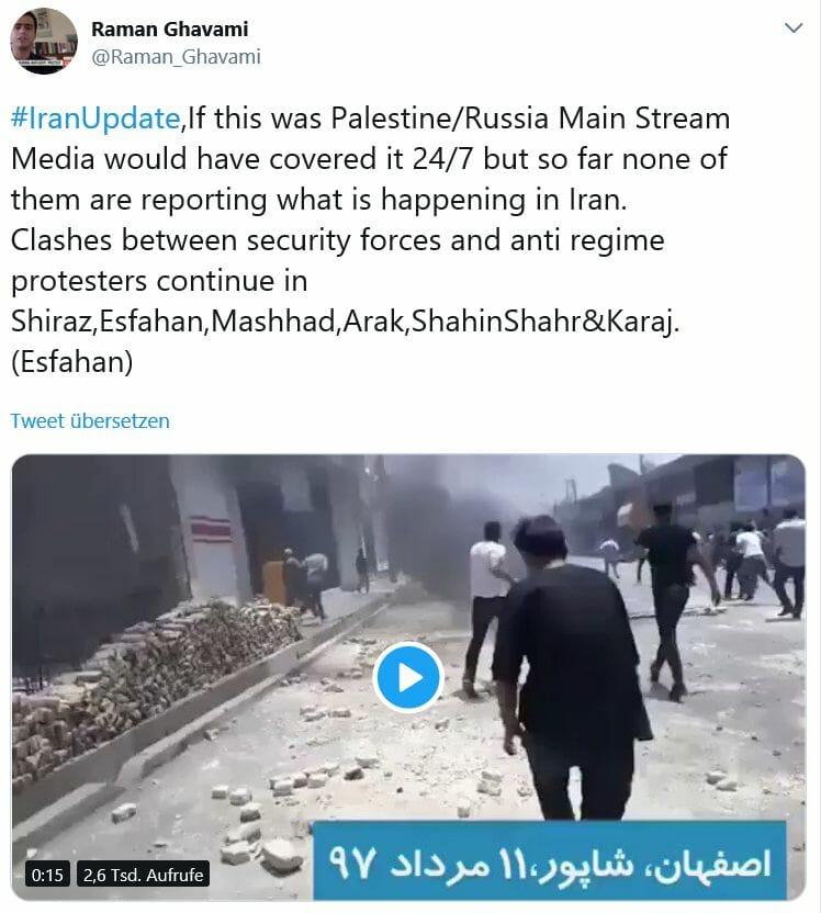 Iraner protestieren gegen die Diktatur – und Medien schweigen großteils