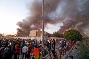 Irak: Demonstranten zünden iranisches Konsulat an