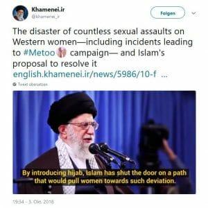 Khameneis Beitrag zur #MeToo-Debatte: Frauen sollen Hijab tragen