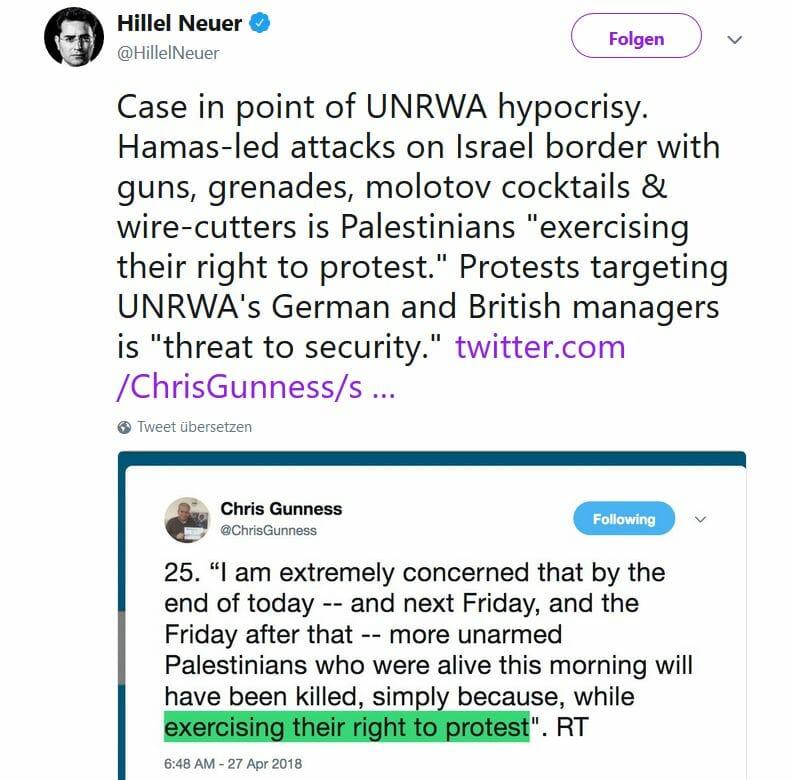 Drohungen gegen UNRWA: Die Geister, die sie selber rief