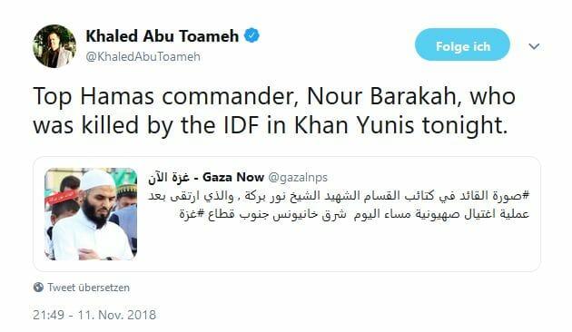 Hochrangiger Hamas-Kommandant bei israelischem Militäreinsatz getötet