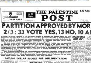 Jahrestag des UN-Teilungsbeschlusses: Ein jüdischer und ein arabischer Staat