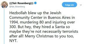 New York Times: Weihnachten feiern mit der Hisbollah