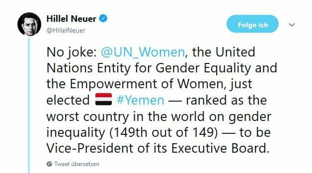 Neue UNO-Farce: Jemen soll Einhaltung von Frauenrechten überwachen