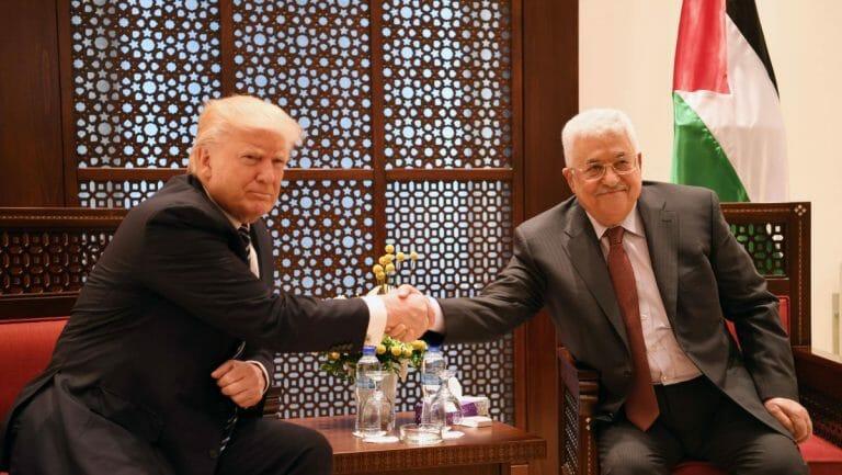 US-Präsident Trump und Präsident der Palästinensichen Autonomiebehörde Abbas