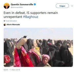 Geflohene IS-Frauen in Syrien schwören der Terrororganisation die Treue