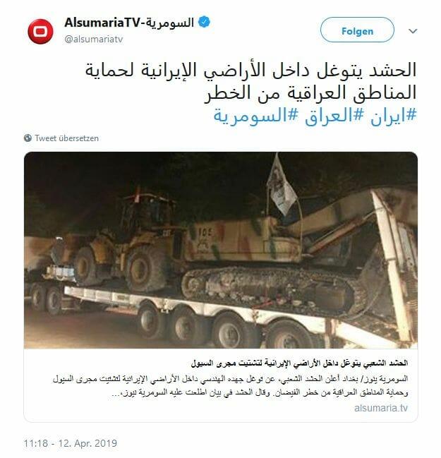 Iran stationiert irakische Milizen in Hochwassergebieten