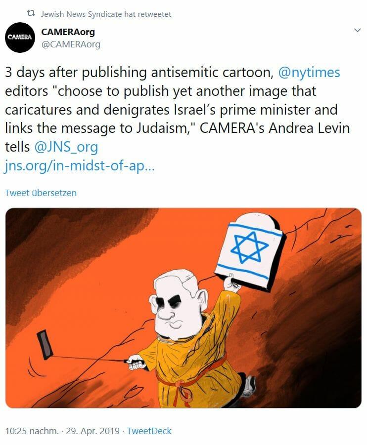 """Hat die New York Times ein """"lang anhaltendes Problem mit Juden""""?"""