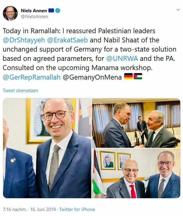 "Deutscher Staatssekretär Annen: ""Israelkritik"" als Staatsräson"