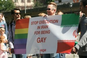 Öffentliche Hinrichtung eines Homosexuellen im Iran