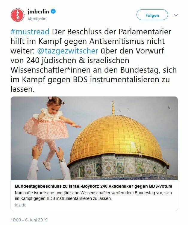 Hat Anti-BDS-Beschluss des Bundestages außenpolitische Konsequenzen?