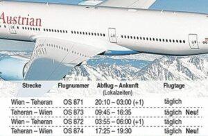 Iran transportierte halbe Tonne Sprengstoff in Flugzeug der Austrian Airlines