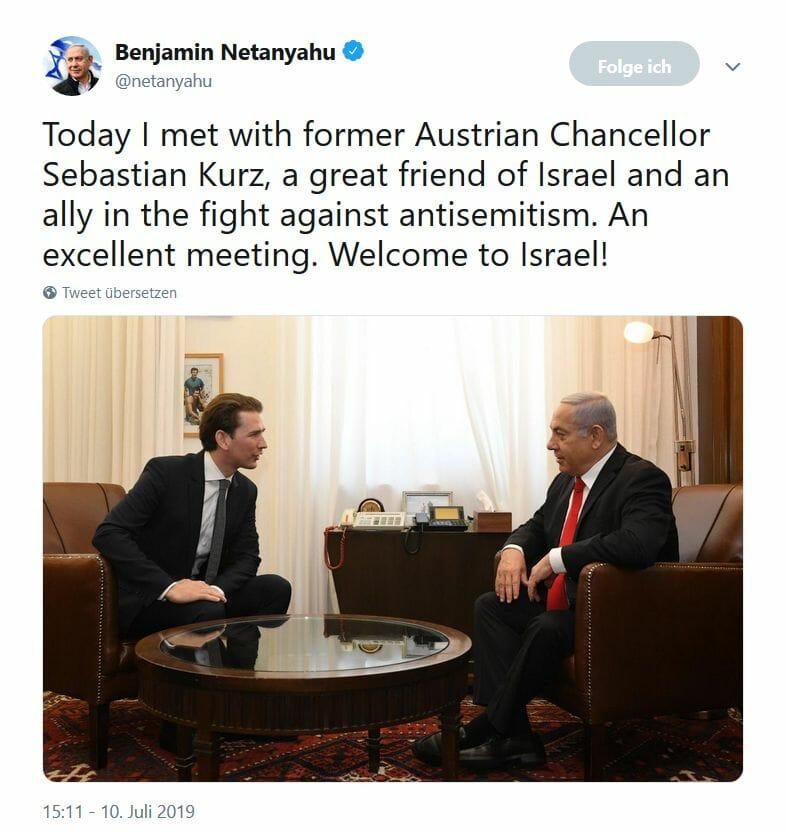 Ein Wahlkämpfer und ein Nicht-Wahlkämpfer treffen sich in Jerusalem