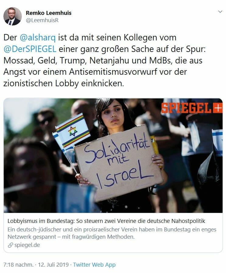 """Eine antisemitische Räuberpistole des """"Spiegel"""""""