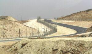 Israelischer Sicherheitszaun im Süden des Westjordanlandes