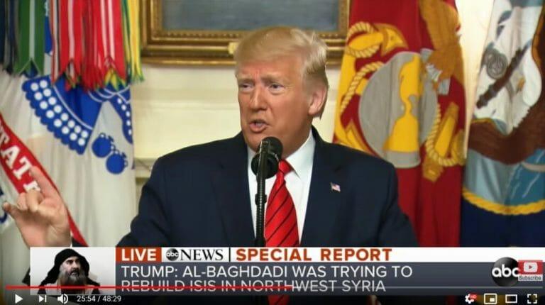 Trumps Pressekonferenz Zum Tod Des Is Chefs Geschichten Aus Einer