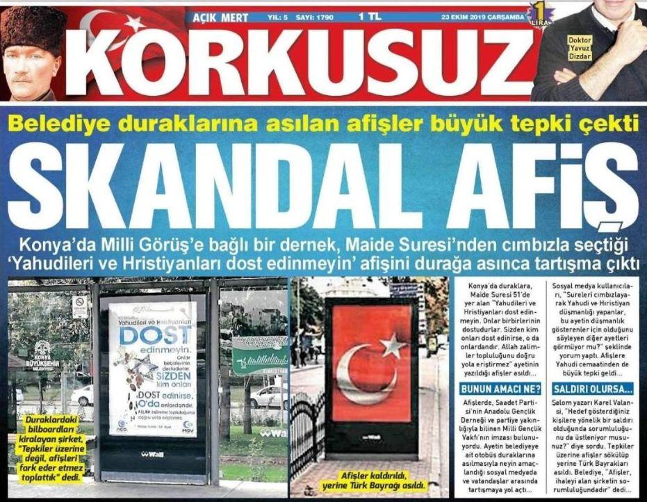 In Konya nichts Neues. Zum politischen Hintergrund eines Skandal-Plakats