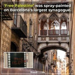 Antisemitische Parole auf größter Synagoge Barcelonas