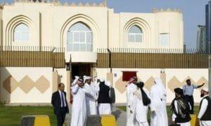 """Die """"Botschaft"""" der Taliban in Katar."""